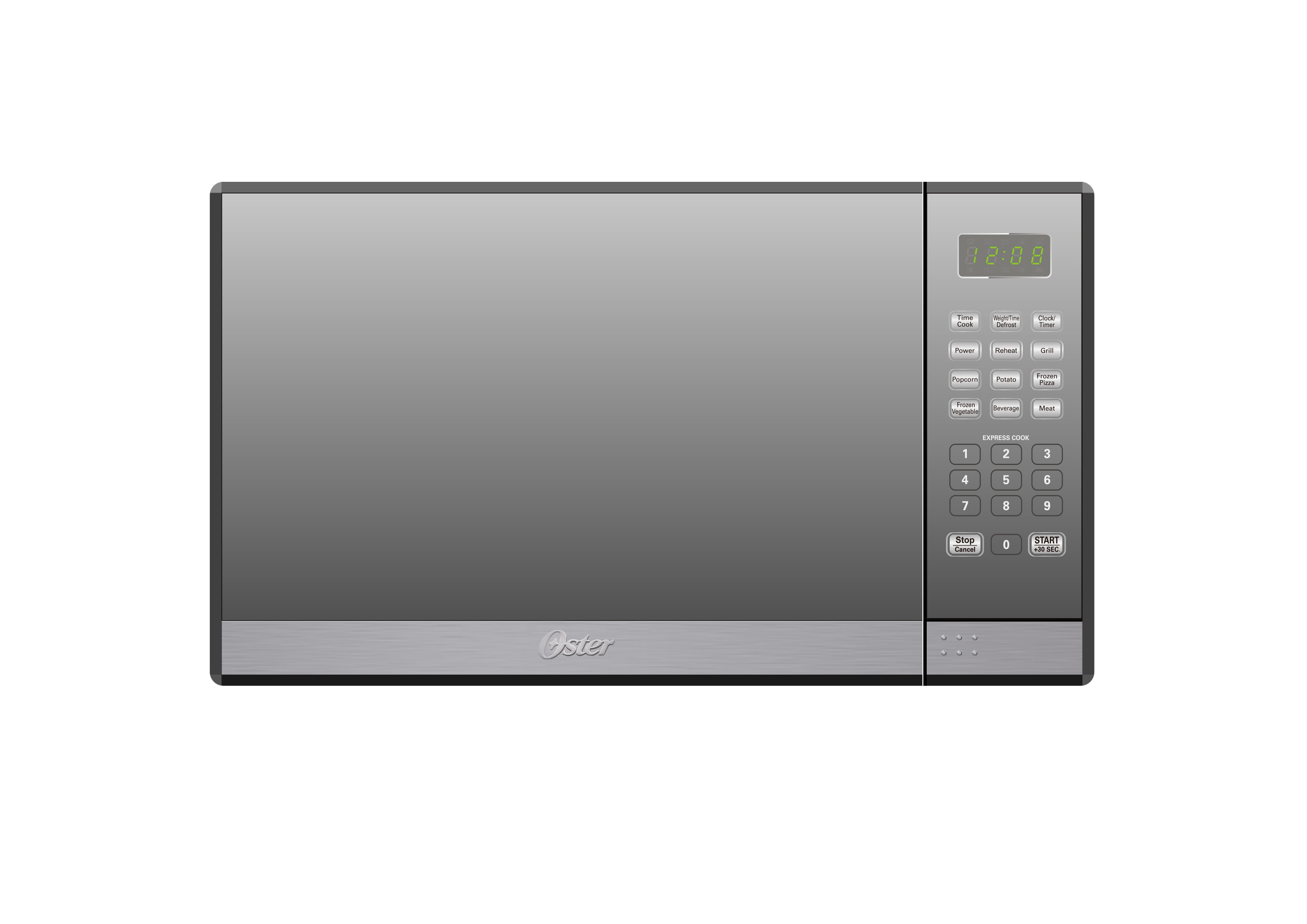 Oster 13 Cu Ft Microwave Oven With Grill Mirror Finish Walmart