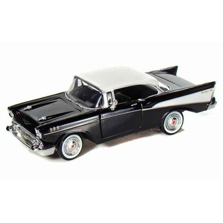1957 Black Chevy Bel Air Hard Top 1/24 Scale Diecast Model in Window Box