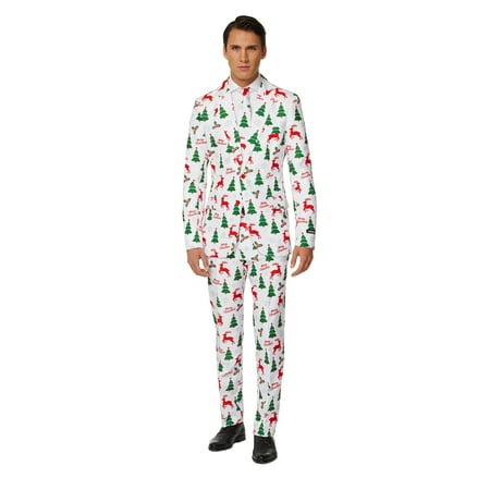 Suitmeister Men's Merry Christmas White Christmas Suit - Merry Halloween