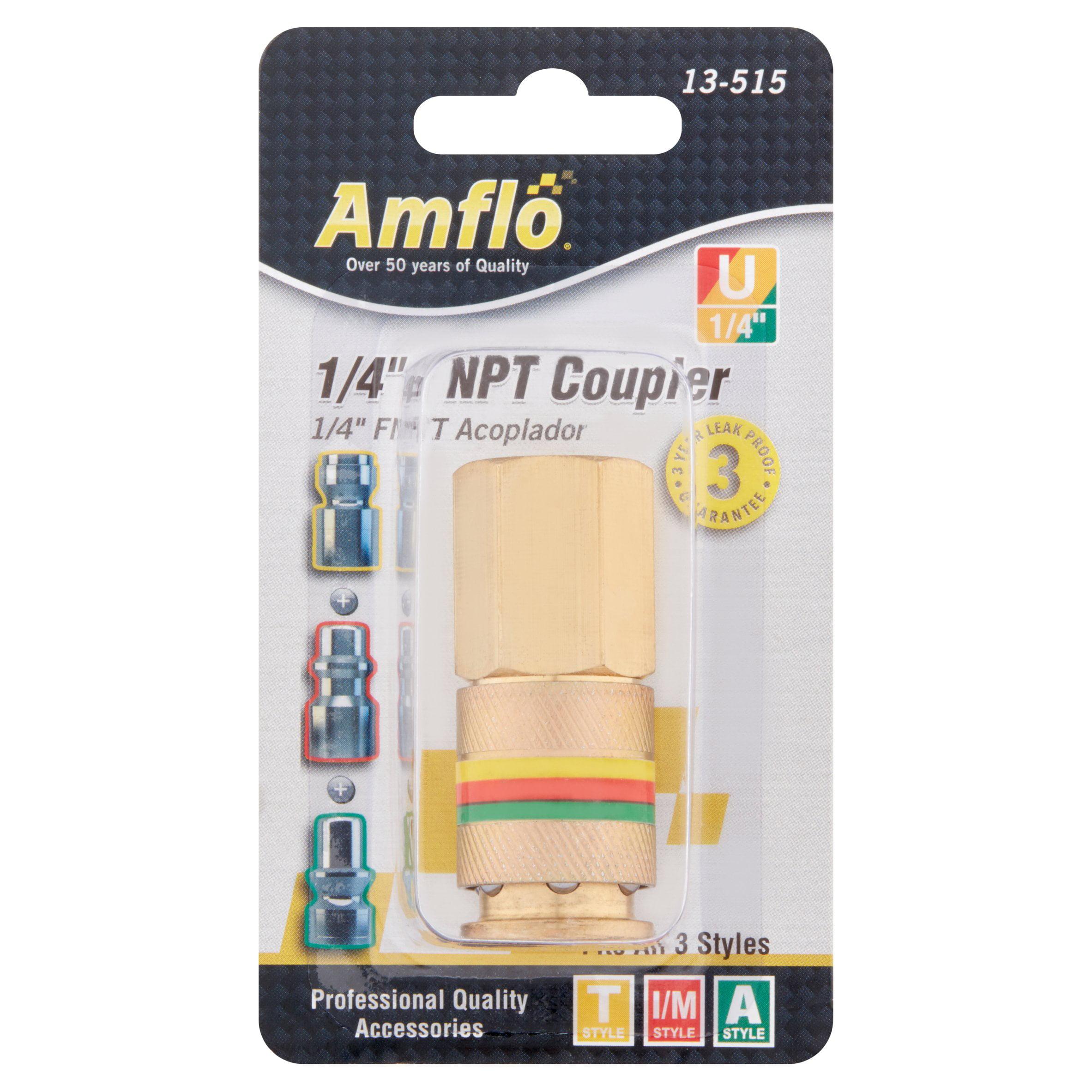 Amflo 1 4'' FNPT Universal Coupler 13-515 by Plews & Edelmann