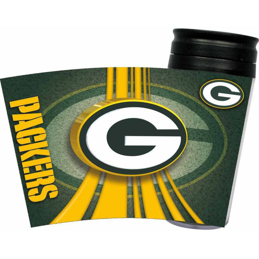 Green Bay Packers 16 Ounce Acrylic Travel Tumbler Glass