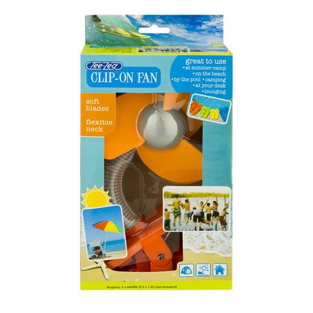 Tee-Zed Clip-On Fan, Orange