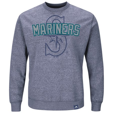 "Seattle Mariners Majestic MLB ""Cleanup Hitter"" Mens Crew Sweatshirt by"
