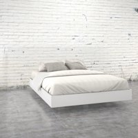 Nexera Paris Queen Size Platform Bed, White