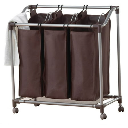 - Neatfreak Deluxe Triple Laundry Sorter, Brown