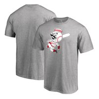 Cincinnati Reds Fanatics Branded Cooperstown Collection Huntington T-Shirt - Heather Gray
