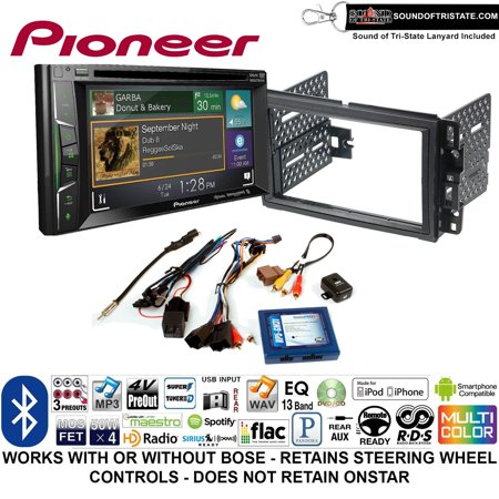 - Pioneer AVH-501EX Double Din Radio Install Kit with DVD/CD Player Bluetooth Fits 2007-2013 Silverado, Avalanche (Retains steering wheel controls) + Sound of Tri-State Lanyard