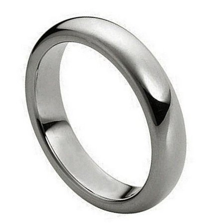 TK Rings 015TR-4mmx10.5 4 mm Polished Shiny Domed Ring Tungsten Ring - Size 10.5 - image 1 of 1