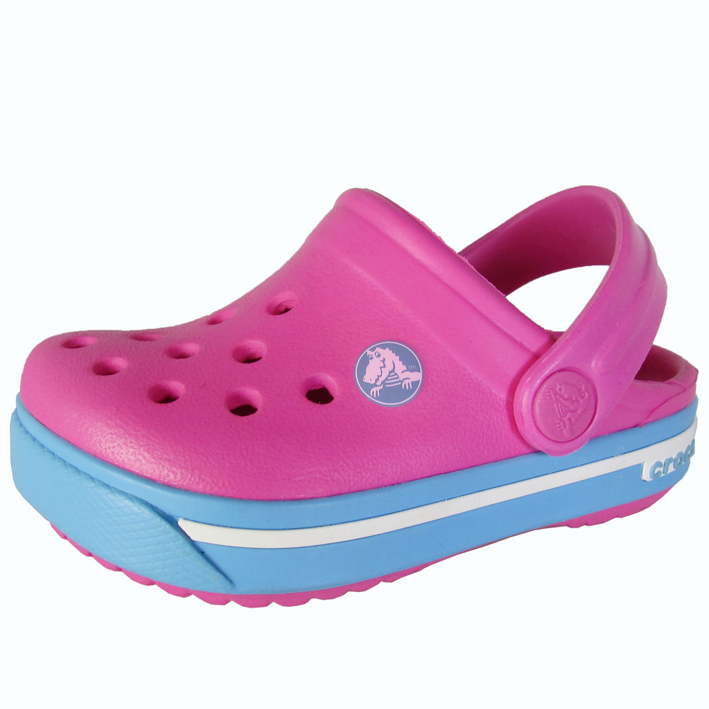 Crocs Crocband Ii.5 Clog Neon Magenta   Bluebell Ankle-High Clogs 4M by Crocs