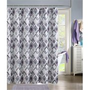 Luxury Home Delta Shower Curtain, Gray & Lavender - 72 x 72 inch