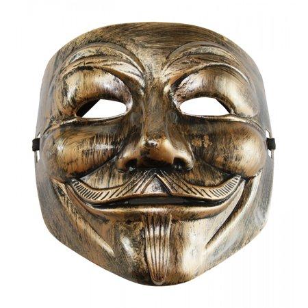 Fawkes Mask (KAYSO INC AZ002BR BRONZE V FOR VENDETTA GUY FAWKES PLASTIC COSTUME)