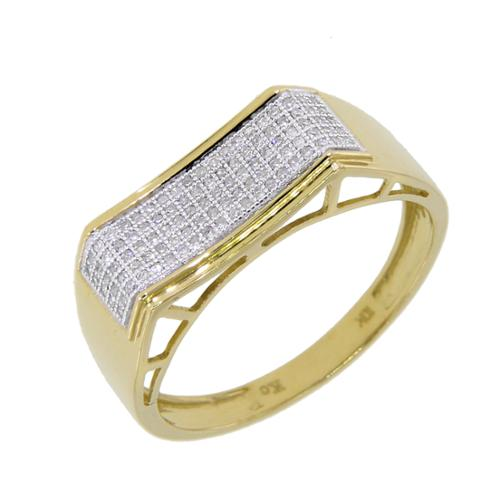 KC Jewelry 10k Yellow Gold 1/4ct TDW Diamond Men's Ring (G-H, I2-I3)