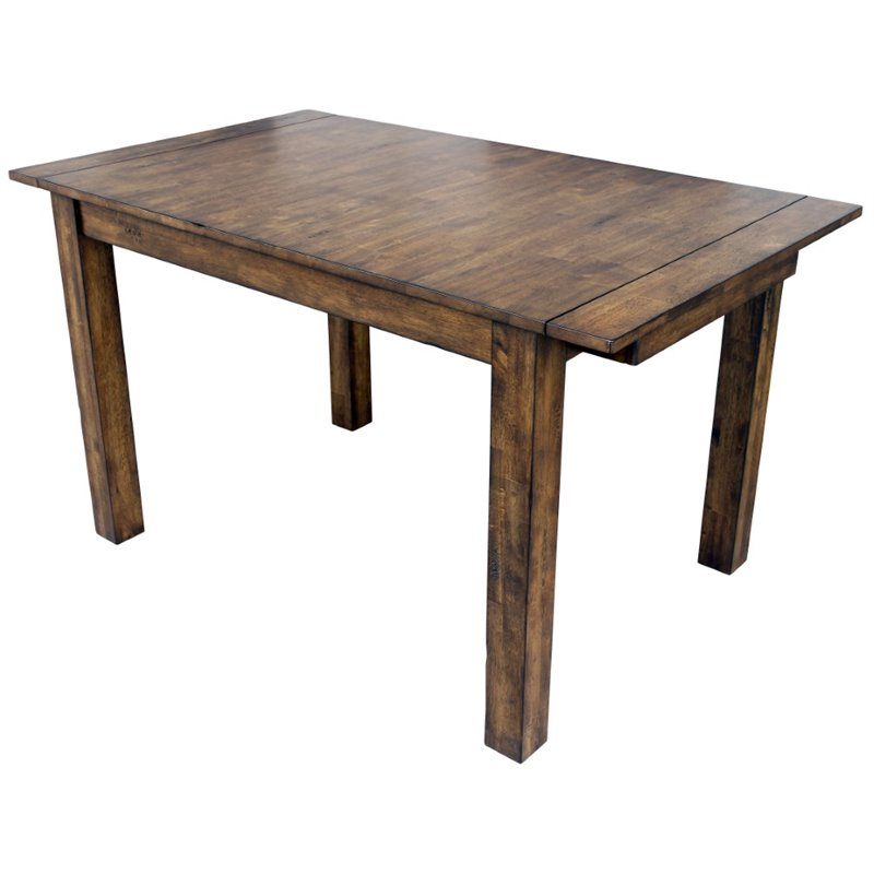 A-America Mariposa Extendable Butterfly Dining Table in Rustic Whiskey