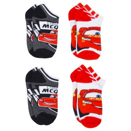 Boys Cars Lightning McQueen Anklet Socks Size 6-8 (4-PAIRS)](Lightning Mcqueen Clothes)
