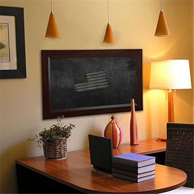 Rayne Mirrors B164884 American Made Dark Walnut Blackboard & Chalkboard, 53.75 x 89.75 in.