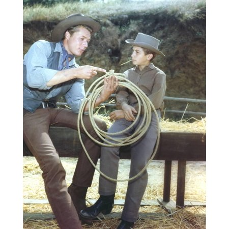 Laramie Cast in Cowboy Outfit Print Wall Art By Movie Star News