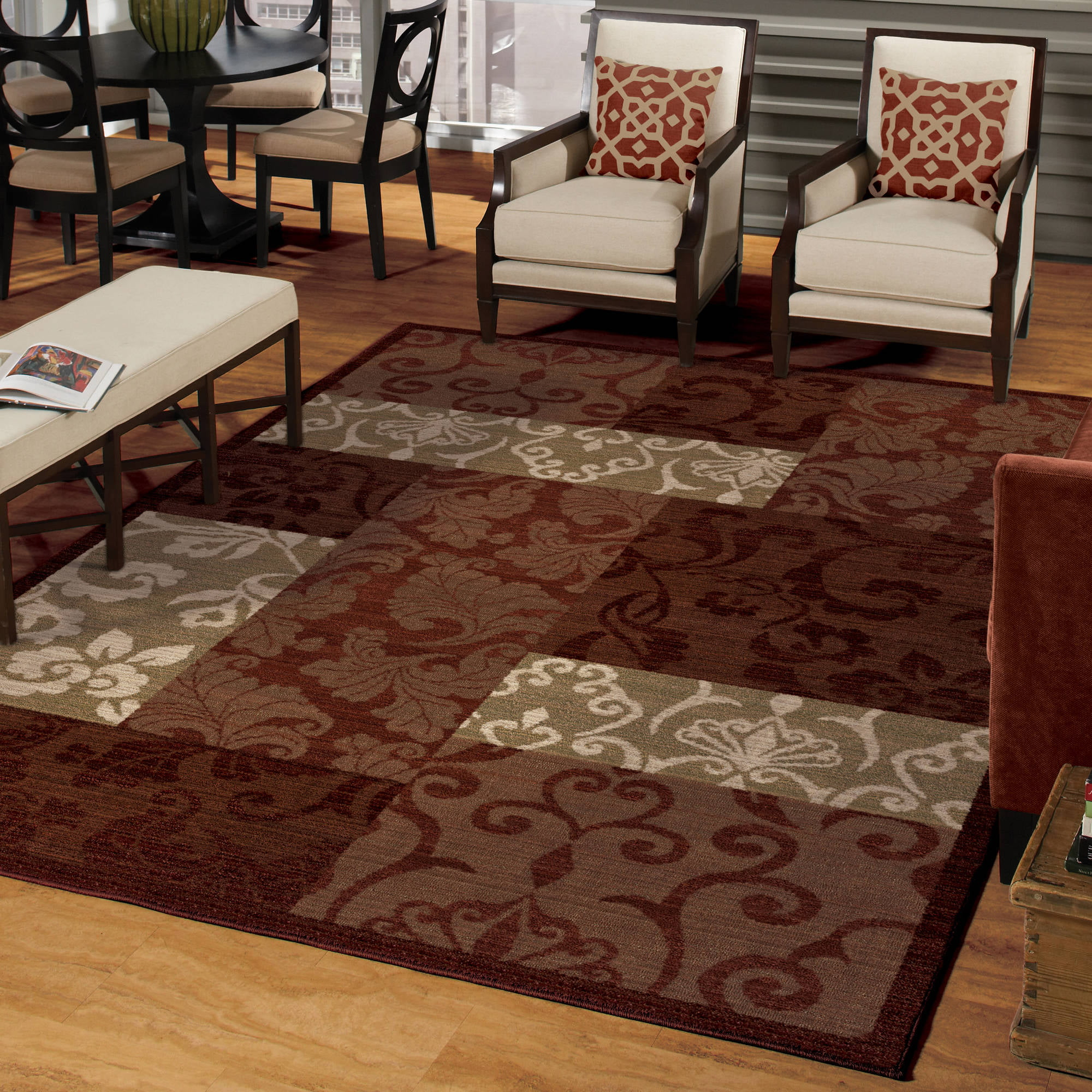 Better Homes and Gardens Scroll Patchwork Area Rug or Runner ...