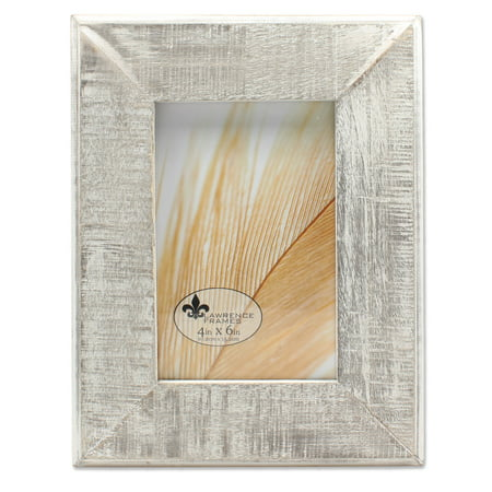 Matted 4x6 Black And White - 4x6 Distressed Gray Wood With White Wash Picture Frame