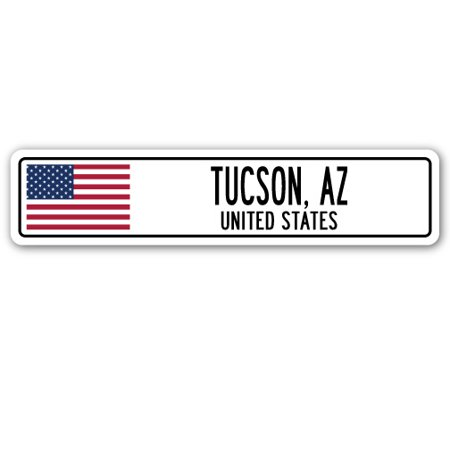 TUCSON, AZ, UNITED STATES Street Sign American flag city country   - Halloween Party Tucson Az