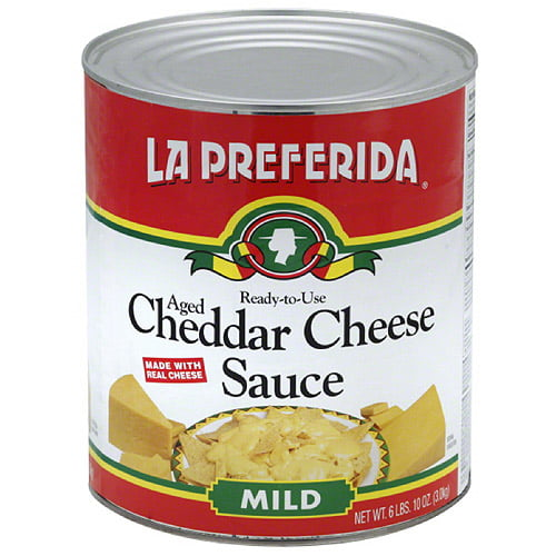 La Preferida Mild Aged Cheddar Cheese Sauce, 106 oz, (Pack of 6) by La Preferida, Inc
