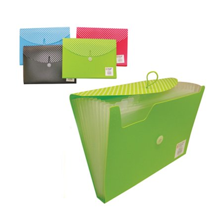 13 Pocket Folder Poly File Expanding Document Accordion Organizer Divider Office ()