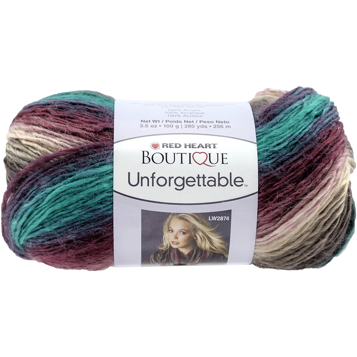 Red Heart Boutique Unforgettable Yarn-Tealberry