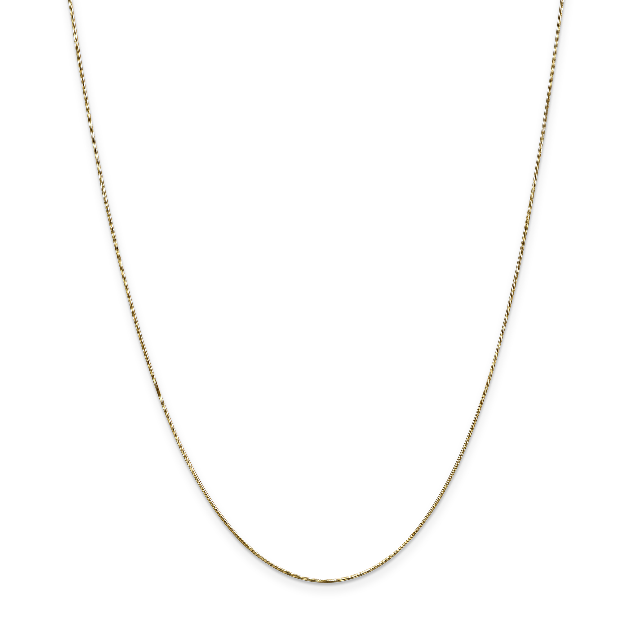 14K Yellow Gold .65mm Round Snake Chain 20 Inch - image 5 of 5