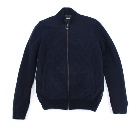 Barbour Mens Quilted Knit Jacket, Blue, Small (Regular) ()