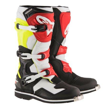 Alpinestars Tech 1 Boots Black/White/Yellow Fluorescent (Black, 5)