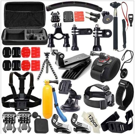 49-in-1 Accessories Kit for GoPro Hero5 Black Hero5 Session Hero 4 Hero Session Accessory Bundle Set for GoPro Hero3+ 3 2 1 SJ4000 Cam Xiaomi Skiing Cycle Hiking Outdoor Sport