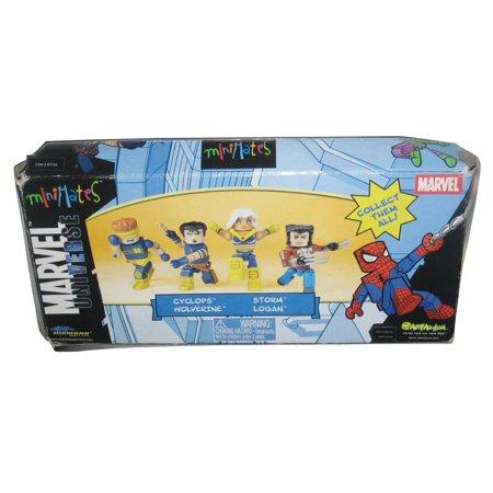 Marvel Universe Minimates Figure Box Set - (Cyclops / Wolverine / Storm / Logan) (Marvel Storm)