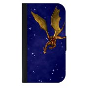 Dragon in the Sky - Wallet Style Phone Case with 2 Card Slots Compatible with the Samsung Galaxy s6 Edge Universal