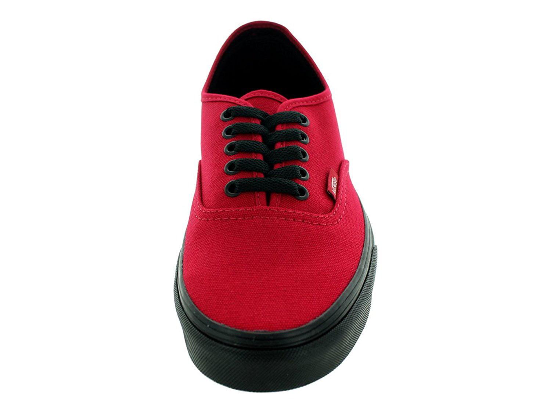 ef3382383ab0e8 Vans - Vans Unisex Authentic Black Sole Skate Shoes-Jester Red - Walmart.com