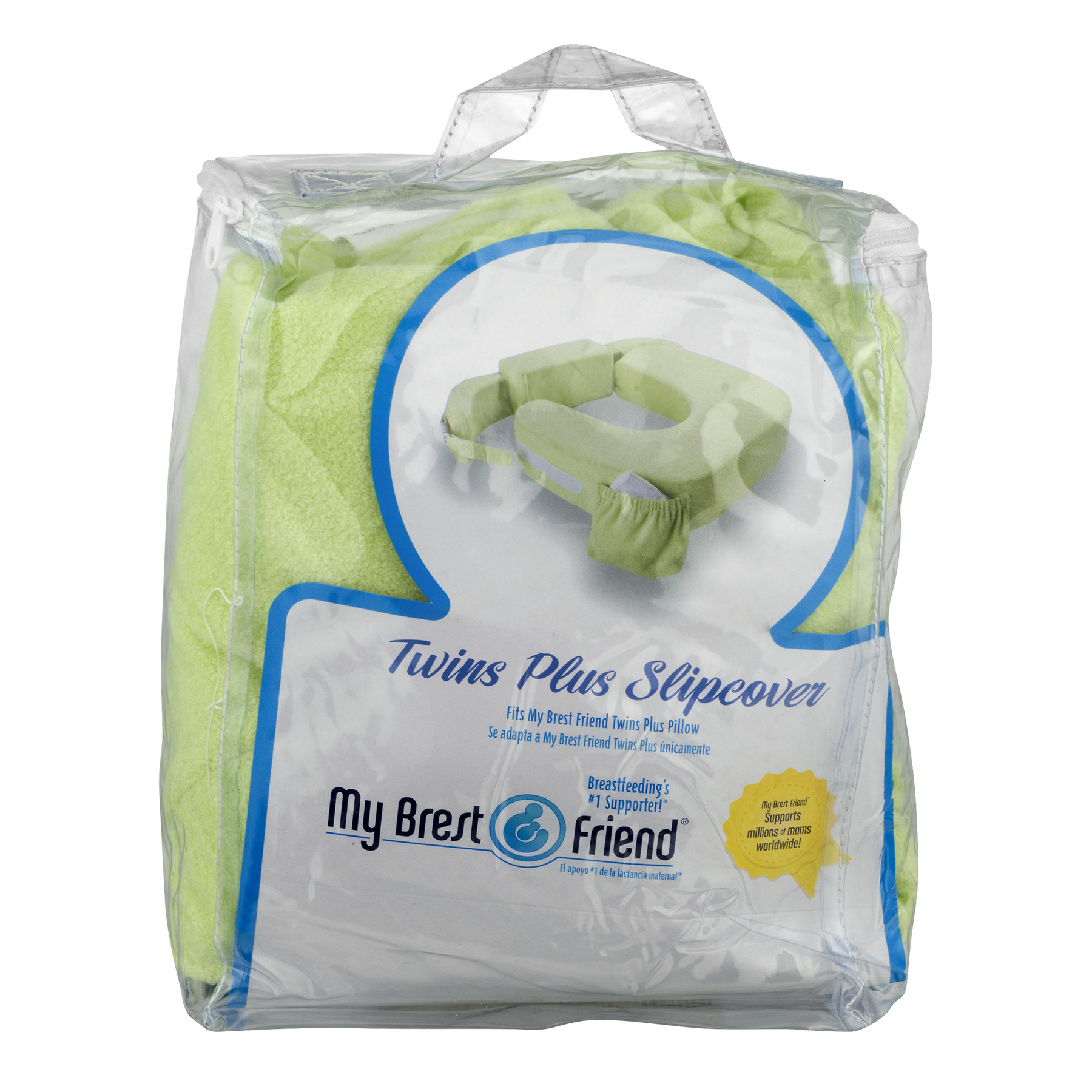 My Brest Friend Twin Nursing Pillow Deluxe Slipcover (pillow not included), Green