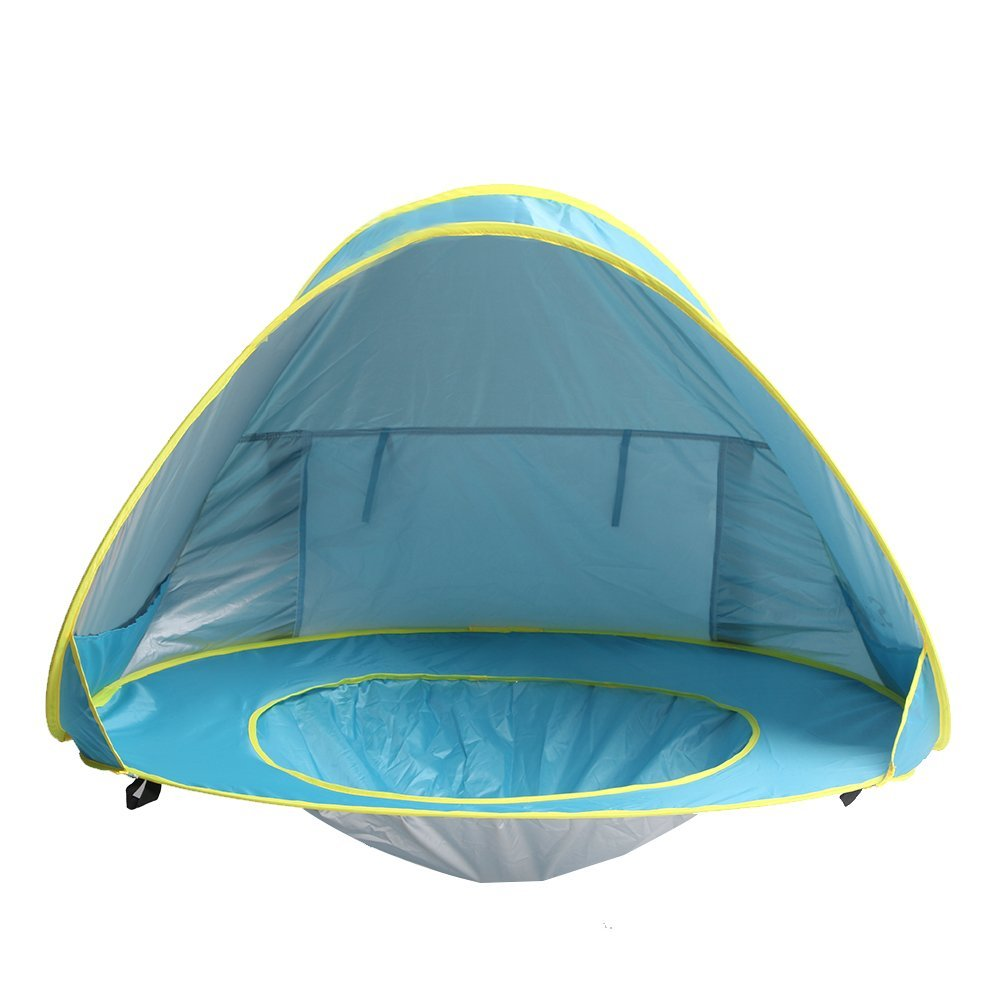 Baby Beach Tent Pop Up Portable Shade Pool UV Protection Sun Shelter for Infant  sc 1 st  Walmart : shade beach tent - memphite.com