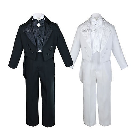 Boys Communion Set (Baby Toddler Boys Teen Baptism Communion Wedding Formal Tuxedo Suits  S-20 New )