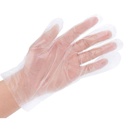 Image of 100 PCS/Set One-off Disposable Plastic Gloves Eco-friendly Disposable Gloves For Kitchen Food/Cleaning/Cooking/BBQ
