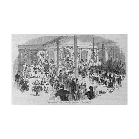 The St. George's Society's Dinner at Delmonico's on 23Rd April, 1857. Print Wall