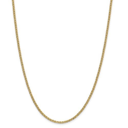 14k Yellow Gold 24in 2.40mm Solid Lightweight Anchor Neck...