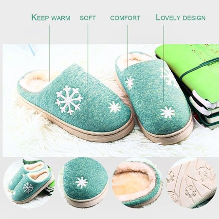 Autumn And Winter Anti-skid Warm Soft Cotton Couple Slippers Plush Indoor Shoe - image 6 of 7