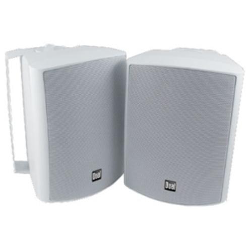 "DUAL Lu53pw 5.25"" 3-way Indoor/outdoor Speakers (white) White/Brown"