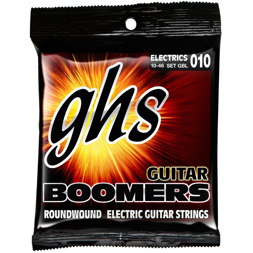 GBL Guitar Boomers, Nickel-Plated Electric Guitar Strings, Light (.010-.046), Model: GBL... by