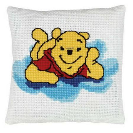 Disney Pooh Bear Pillow - Counted Cross Stitch Kit # 1135-52 - Janlynn (Janlynn Bear)