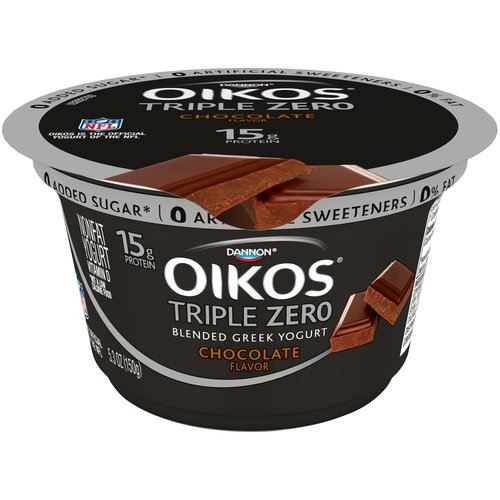Dannon Oikos Triple Zero Chocolate Greek Yogurt, 5.3 oz