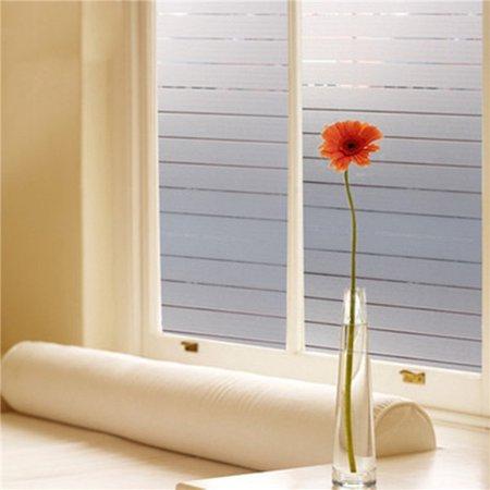 Window Film Privacy Film Static Decorative Stripe Glass Film Non-Adhesive