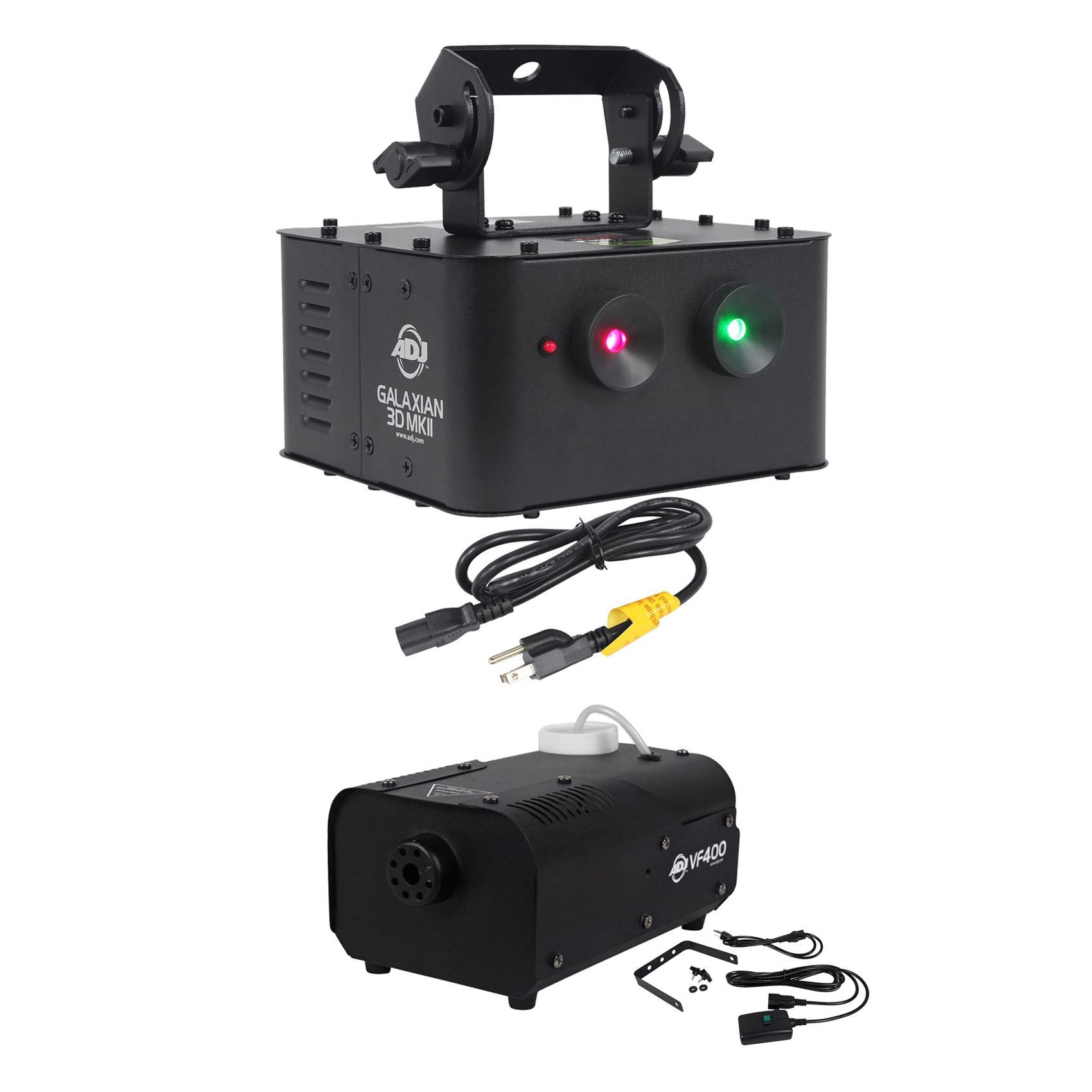 American DJ GALAXIAN 3D MKII Dual Red Green Laser Effect Club Light+Fog Machine by American DJ