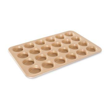 Nordic Ware Naturals® Nonstick 24 Cavity Petite Muffin Pan, Aluminum, Lifetime Warranty, 2