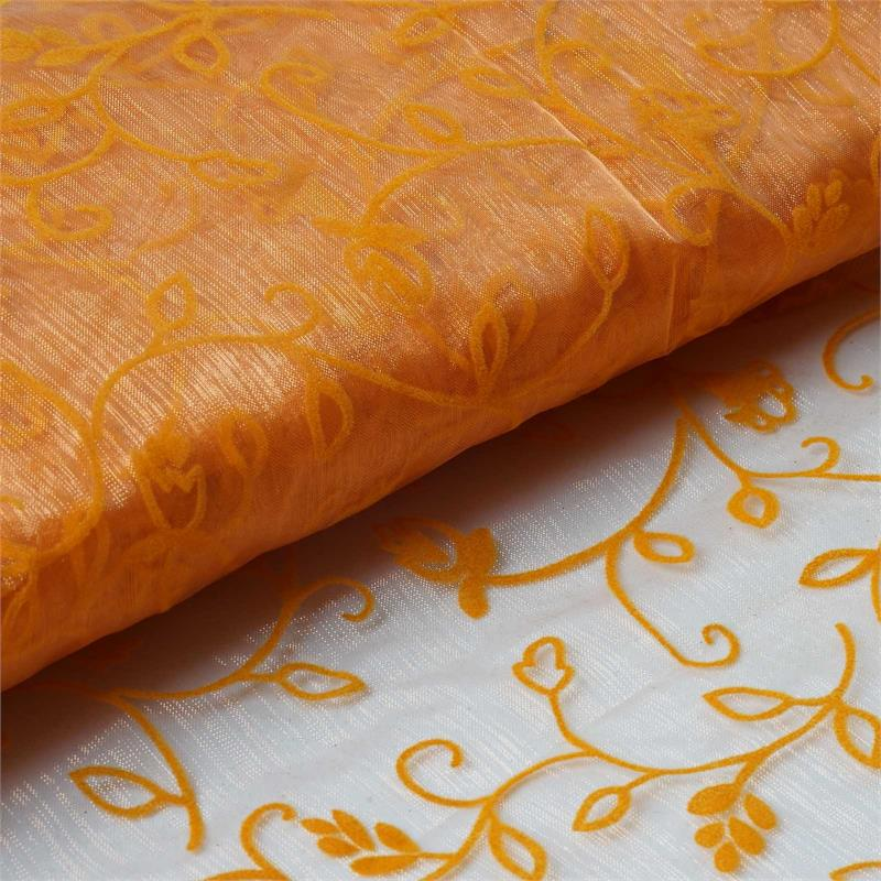 "BalsaCircle 54"" x 10 yards Embossed Sheer Organza Fabric Bolt Put-up - Sewing Crafts Draping Decorations Supplies"