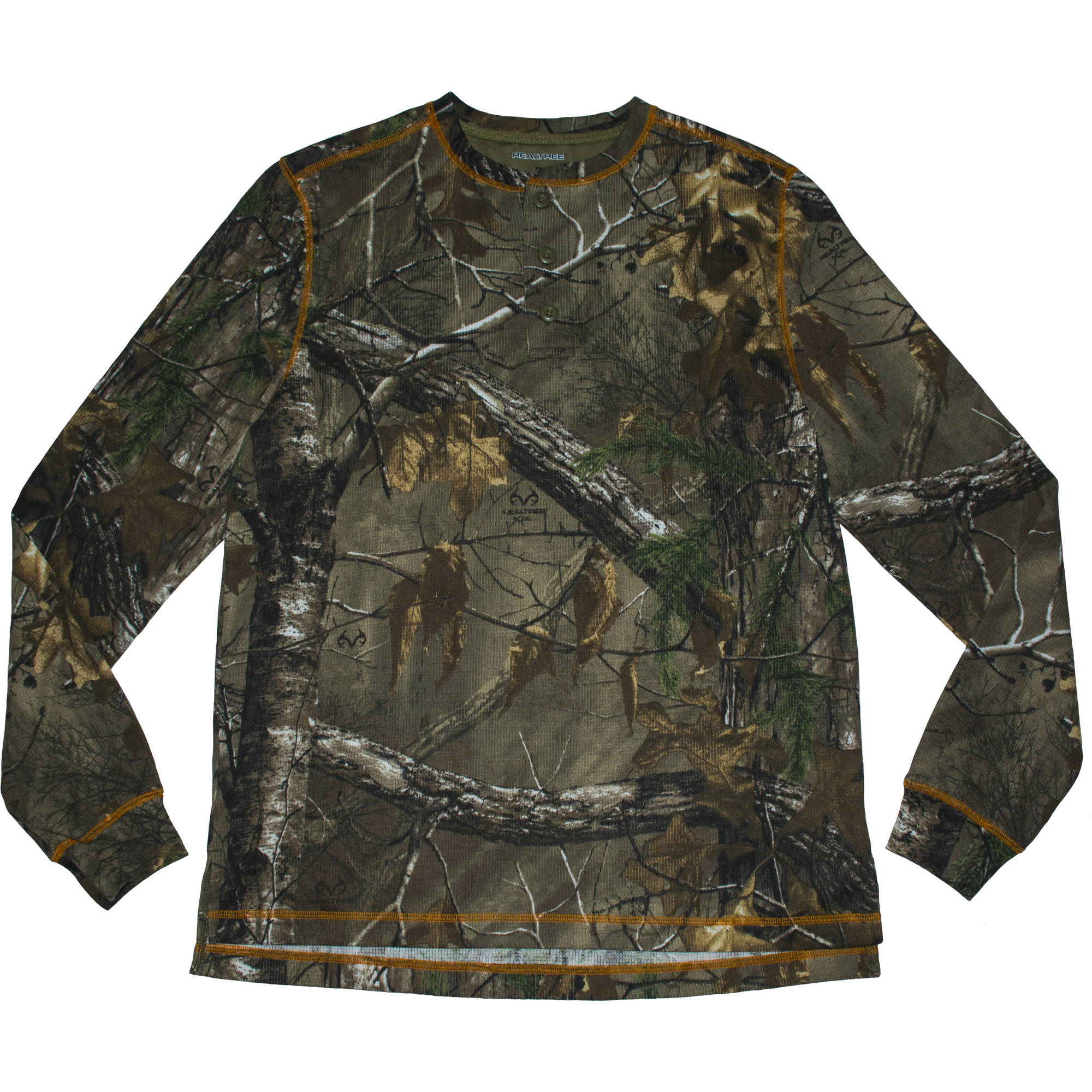 Realtree Men's Long Sleeve Thermal Henley