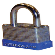 """Trimax TLM87 Dual Locking 30mm Solid Steel Laminated Padlock with 7/8"""" x 3-1/16"""" Dia. Shackle"""